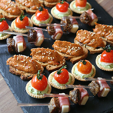 Cold canapes by Chef Munier